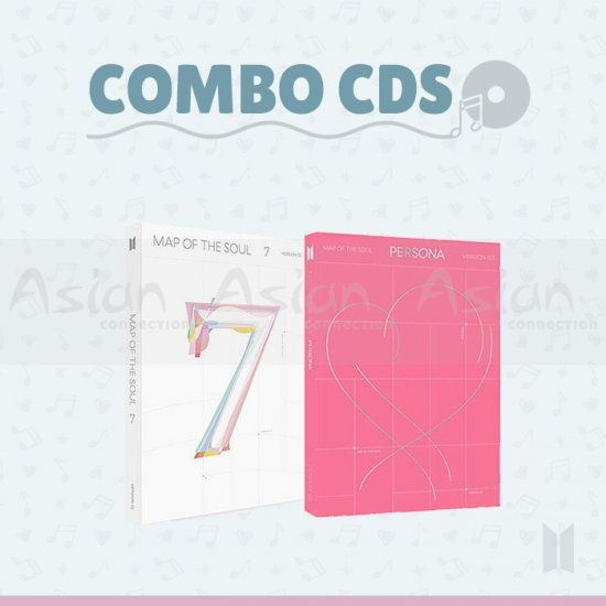 Combo CDs -  BTS [MAP OF THE SOUL : PERSONA + 7] - Asian Connection