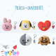 BTS x Line - COMBO Pélucia + Chaveiro BT21 - Asian Connection