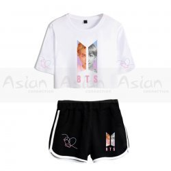 Camiseta Cropped + Short BTS Love Yourself