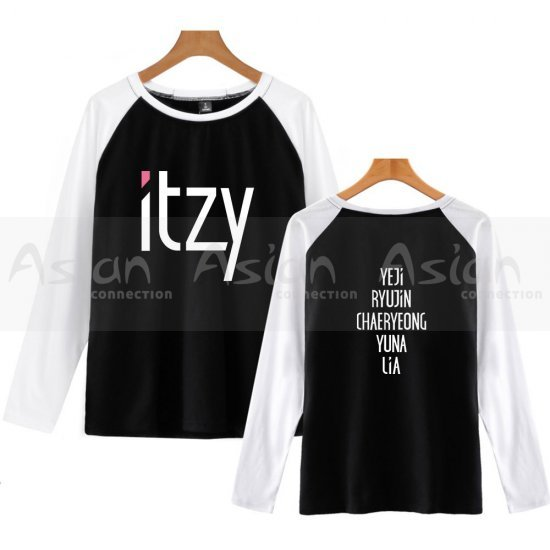 Camiseta Longa Raglan - ITZY - Asian Connection